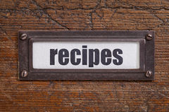 Recipes  label Stock Image