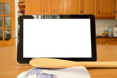 Recipes on my tablet Royalty Free Stock Photos