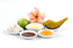 Recipes with pumpkin face masks for those with aging spa at home simple. Stock Image