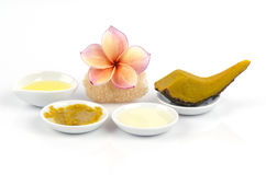 Recipes with pumpkin face masks for skin, it is made easy at home. Stock Images