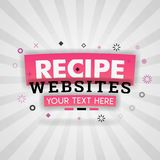 Recipes websites with simple healthy food for magazine covers stock illustration