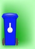 Recipiente blu - recipiente dei prodotti chimici Fotografia Stock Libera da Diritti