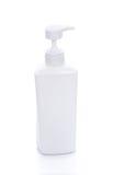 Recipiente cosmético no fundo branco Fotos de Stock Royalty Free