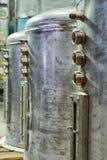 Recipiente de aço inoxidável com torneira Fotos de Stock