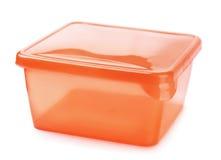 Recipiente de alimento plástico Fotografia de Stock