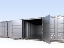 Recipiente de carga aberto Fotos de Stock