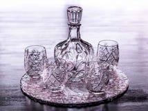 Recipiente de cristal da água Fotos de Stock