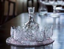 Recipiente de cristal da água Fotografia de Stock Royalty Free