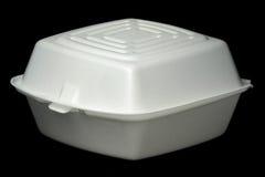 Recipiente de fast food no preto Imagem de Stock