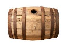 Recipiente de madeira velho isolado Imagens de Stock