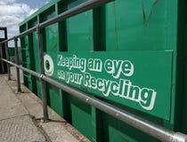 Recipiente de recicl verde Foto de Stock