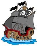 Recipiente del pirata Fotografía de archivo