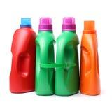 Recipiente detergente plástico imagens de stock