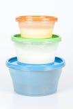 Recipiente di plastica con alimento immagini stock libere da diritti