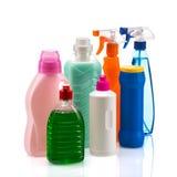 Recipiente di plastica del prodotto di pulizia per la casa pulita Fotografie Stock