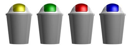 recipiente di plastica della toilette 3D royalty illustrazione gratis
