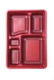 Recipiente di plastica rosso immagini stock