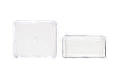 Recipiente di plastica trasparente fotografia stock