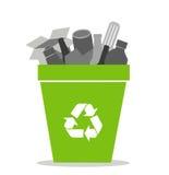 Recipiente di riciclaggio verde Fotografia Stock Libera da Diritti