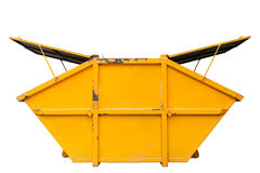 Recipiente di rifiuti industriali & x28; dumpster& x29; per rifiuti urbani o il industria fotografie stock