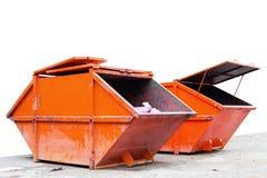 Recipiente di rifiuti industriali & x28; dumpster& x29; per rifiuti urbani o il industria immagine stock
