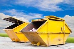 Recipiente di rifiuti industriali & x28; dumpster& x29; per rifiuti urbani o il industria immagini stock libere da diritti