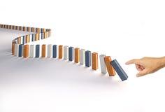Recipiente do dominó Imagens de Stock