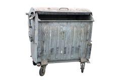 Recipiente do lixo do metal Fotos de Stock