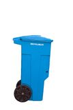 Recipiente do lixo no fundo branco. Imagens de Stock Royalty Free