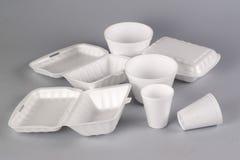 Recipiente do Styrofoam Foto de Stock Royalty Free