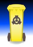 Recipiente giallo Immagine Stock Libera da Diritti