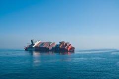 Recipiente italiano puesto a tierra Amaranto alegre del transbordo rodado Imagen de archivo
