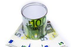 Recipiente para o dinheiro Imagens de Stock