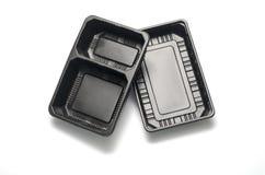 Recipiente plástico preto Fotos de Stock Royalty Free