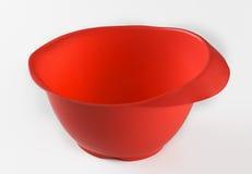 Recipiente plástico vermelho fotografia de stock royalty free