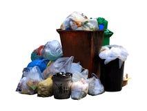Recipiente, plastica della borsa di rifiuti, mucchio della borsa di immondizia, inquinamento da plastica residua, mucchio del cia Fotografia Stock Libera da Diritti