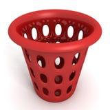 Recipiente rosso su fondo bianco Fotografia Stock