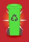 Recipiente verde Immagine Stock