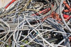 Recipiente waste da operação de descarga foto de stock royalty free