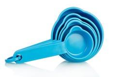 Recipientes azuis para o pó de lavagem Fotos de Stock Royalty Free