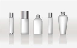 Recipientes cosméticos da beleza Ilustração do Vetor