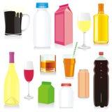 Recipientes de bebida isolados ilustração royalty free