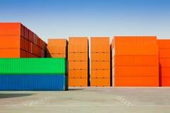 Recipientes de carga Foto de Stock