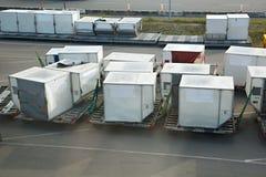 Recipientes de carga aérea Imagem de Stock