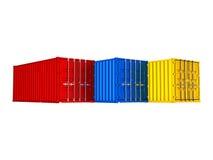 Recipientes de carga coloridos ilustração stock