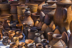 Recipientes de cerámica imágenes de archivo libres de regalías