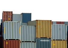 Recipientes de frete no porto Imagem de Stock