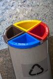 Recipientes de lixo Imagem de Stock