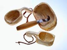 Recipientes de madeira Imagem de Stock Royalty Free