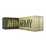 recipientes do exército da rendição 3D Fotos de Stock
